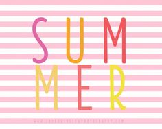 Summer Striped Printable