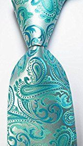 Amazon.com: EXT Collectino 100% Silk Necktie, New Classic Paisley Cyan Fashion Trendy Chick Elegant Formal Tie JACQUARD WOVEN Men's Suits Wedding Party Ties: Everything Else