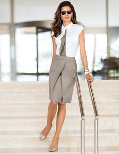Business skirt with box pleat | MADELEINE Mode