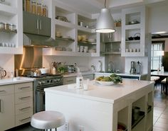 I don't usually go for open kitchen cabinets, but these are lovely!