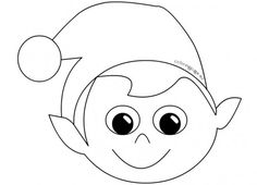 Mask Elf Face Template For Kids Coloring Pages