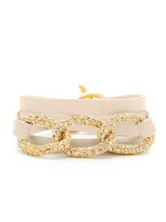 Bone Leather Parker Shimmer Wrap Bracelet