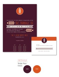 The perfect fall wedding invitation by Weswen Design