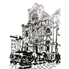 5 min sketch on Florence Piazza del Duomo #urbansketch #urbansketchers #Italy #Florence #Firenze #Roma_a_Roma by ivanivanov
