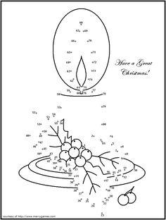 christmas candle dot to dot