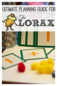The Lorax: A Guide to Activities and Lessons via @lemonlimeadv