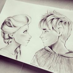 What do you think would they be a perfect couple? Jelsa, Cute Disney, Disney Art, Disney Stuff, Elsa Drawing, Sailor Moon Background, Couple Sketch, Disney Movies To Watch, Jack Frost And Elsa