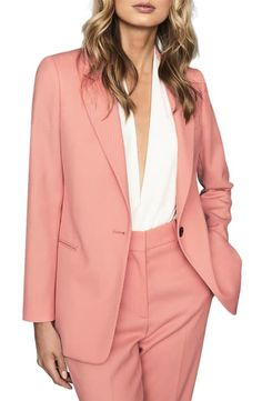 online shopping for Reiss Phoenix Jacket from top store. See new offer for Reiss Phoenix Jacket Types Of Blazers, Blazers For Women, Suits For Women, Clothes For Women, Ladies Blazers, Pink Suit, Blazer Dress, Pink Blazer Outfits