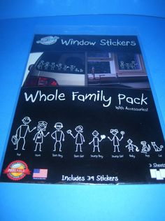 Window Stickers Whole Family Pack With Accessories The Peel People NIP  #ThePeelPeople