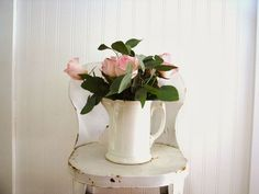 white ironstone vignette | Pam, White Ironstone Cottage... Simple... Sweet... and it's WHiTe!*!*!