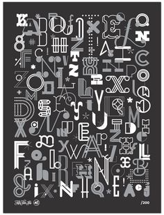 the letters poster by skinny ships 4 could do a typographic themed alphabet poster. Typography Love, Typography Letters, Types Of Lettering, Lettering Design, Chic Type, Typographie Inspiration, Typographic Poster, Design Graphique, Logo Nasa