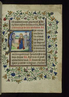 Illuminated Manuscript, Book of Hours, St. Barbara, Walters Manuscript W.168, fol. 220r, via Flickr.