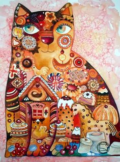Gingerbread Cat by Oxana Zaika