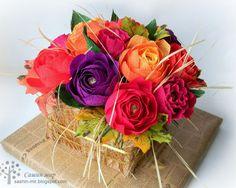 Сашин мир, конфетный букет, коробка с цветами, осенний букет, свит дизайн