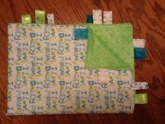 I Love Mommy and Daddy Taggie Blanket by BlanketsbySheryl on Etsy, $15.00