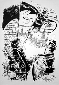 Jim Aparo Batman, in TheMarcarade's Batman Black & White Line Comic Art Gallery Room