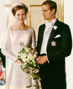 Małgorzata  z dynastii Glücksburgów - księżna koronna Danii i książę-małżonek Henri de Laborde de Monpezat