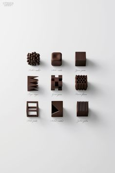Chocolatexture sets contained nine shapes.