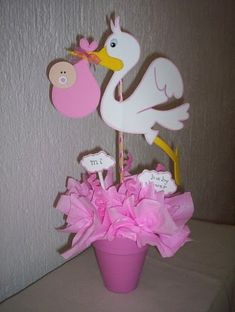 Baby shower Decorations with foam | Imagenes de centros de mesa para baby shower - Imagui
