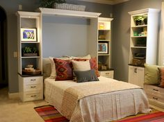 This Murphy bed is totally comfy AND hides away with ease!