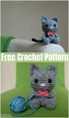 18 Easy Crochet Cat Patterns – Free Patterns We will share with you one of these pet animal's amigurumi and stuffed crocheted toy. We are going to share with you crochet cat patterns. Crochet Sloth, Crochet Car, Kawaii Crochet, Crochet Animal Amigurumi, Crochet Cat Pattern, Crochet Amigurumi Free Patterns, Crochet Animal Patterns, Stuffed Animal Patterns, Crochet Crafts