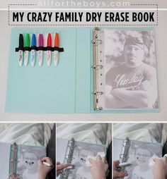 DIY Dry Erase Book. Gloucestershire Resource Centre http://www.grcltd.org/scrapstore/