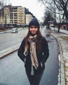 My sister near by Frognerparken