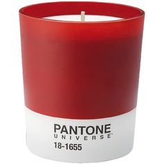 Pantone Scented Candle 18-1655 - Grapefruit and Rosemary - 150hr (3.550 RUB) ❤ liked on Polyvore featuring home, home decor, candles & candleholders, fillers, candles, other, red fillers, grapefruit scented candles, red home decor and fragrance candles