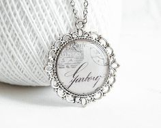 Shabby Chic Jewelry Old Postcard Necklace Bridesmaids Get The
