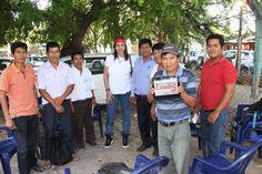 Con los hermanos originarios de Bolivia.