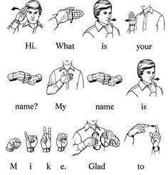 Sign Language Book, Simple Sign Language, Sign Language Chart, Sign Language For Kids, Sign Language Phrases, Sign Language Alphabet, Learn Sign Language, American Sign Language, Alphabet Code
