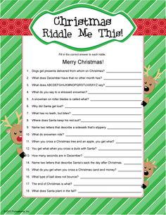 Christmas Riddle Me This!
