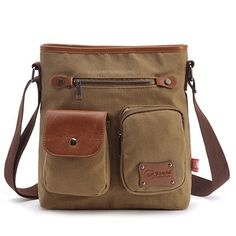 Cheap shoulder bags, Buy Quality canvas bags for men directly from China canvas bag Suppliers: Solid Zipper Small Canvas Flap Vintage Messenger Bag for Teenage Boys Girls Casual Durable School Bag Coffee Vintage Messenger Bag, Canvas Messenger Bag, Mens Travel Bag, Travel Bags, Vintage Canvas, Casual Bags, Pocket Detail, Canvas Leather, Online Bags
