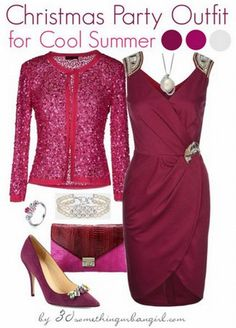 awesome burgundy monochrome Christmas party outfit for Cool Summer