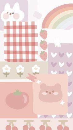 Cute Pastel Wallpaper, Soft Wallpaper, Cute Patterns Wallpaper, Bear Wallpaper, Cute Anime Wallpaper, Aesthetic Pastel Wallpaper, Wallpaper Iphone Cute, Hello Kitty Wallpaper, Cute Wallpaper Backgrounds
