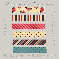 Free Washi Tape Download Family Darr