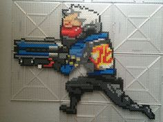 So in between finals and the overwatch beta I'm amazed i found the time to do this! Soldier 76 has been the character I've clocked the most time as so far, so i had to do him next (: Tracer and Sym...