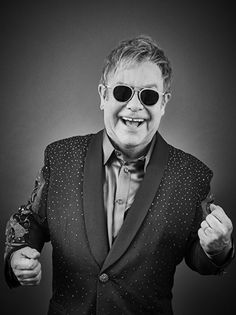 Elton John by Andy Gotts Andy Gotts, David Furnish, Bernie Taupin, Paul And Linda Mccartney, Elton John Aids Foundation, Barry Gibb, King Of My Heart, Pop Singers, Beautiful Celebrities