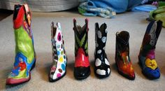 Painted cowboy boots for a fundraiser.