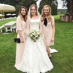 Tanya, Zoe, and Niomi at Tanya and Jim's wedding! 9•6•15