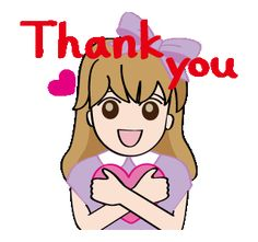 LINE Creators' Stickers - Lovely girl Lisa Animated Stickers Example with GIF Animation Thank You Qoutes, Thank You Gifs, Thank You Images, Thanks Gif, Good Day Images, Love Friendship Quotes, Love Cartoon Couple, Funny Emoticons, Sharp Photo