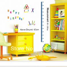Aliexpress.com : Buy Colorful Words measure 60*180cm height wall stickers /kids wall stickers decorative painting background wallpaper, WS 35 from Reliable Colorful Words height wall stickers suppliers on SW-STAR Rainbow Home $6.59