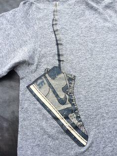 Vintage NIKE Shirt 80s Nike DUNK JORDAN Shoe/ by sweetVTGtshirt