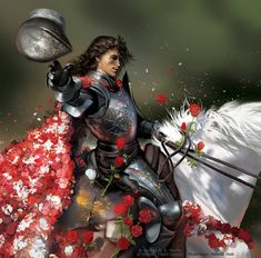 This is from only learned that it had come out today thanks to the German Ice and Fire wiki. It's been sitting in my folders all these years takin. The Knight of Flowers Game Of Thrones Artwork, Game Of Thrones Tv, Game Of Thrones Houses, Renly And Loras, Knight Of Flowers, Burning Wheel, Seven Knight, Game Of Thones, Valar Dohaeris