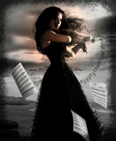 Девушка и скрипка