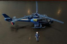 Blue Thunder Helicopter 1983 Multi-Toys With Pilot! Vintage!  #MultiToys
