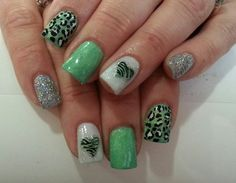 Zebra nails  | See more nail designs at http://www.nailsss.com/acrylic-nails-ideas/3/