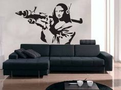 Banksy Mona Lisa Decal Wall Sticker from Serious Onions Ltd | Made By The Vinyl Biz | £14.99 | BOUF