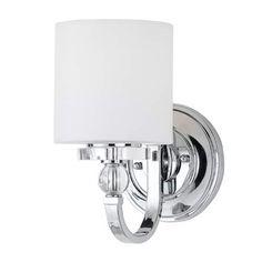 One Light Polished Chrome Downtown Bath Fixture Quoizel 1 Light Bathroom Lighting Wall Lig