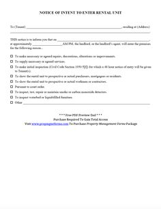 Lease Renewal Form Pdf  Property Management Forms